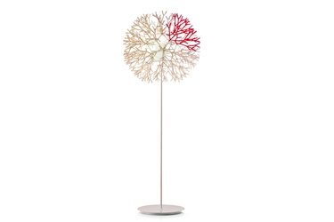 CORAL FLOOR LAMP IVORY/RED 600