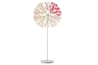 CORAL FLOOR LAMP IVORY/RED 800