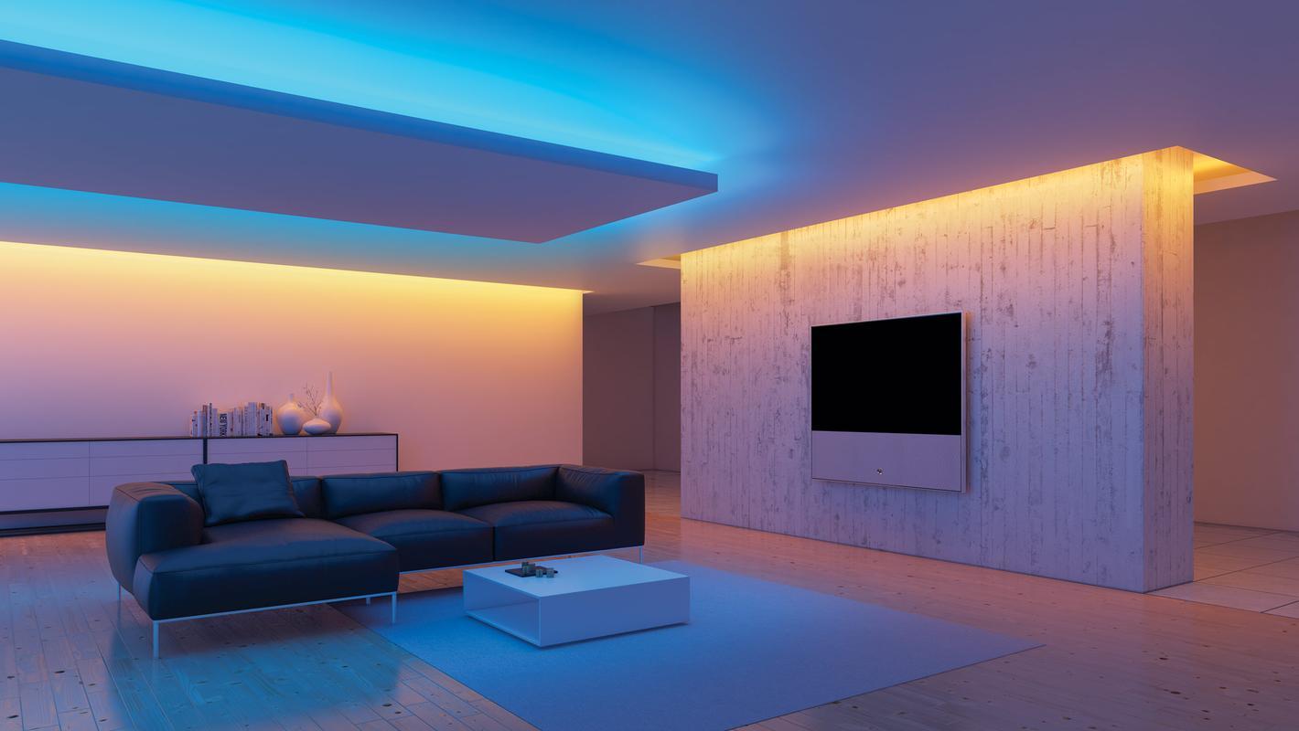 Подсветка интерьера, многоцветная лента