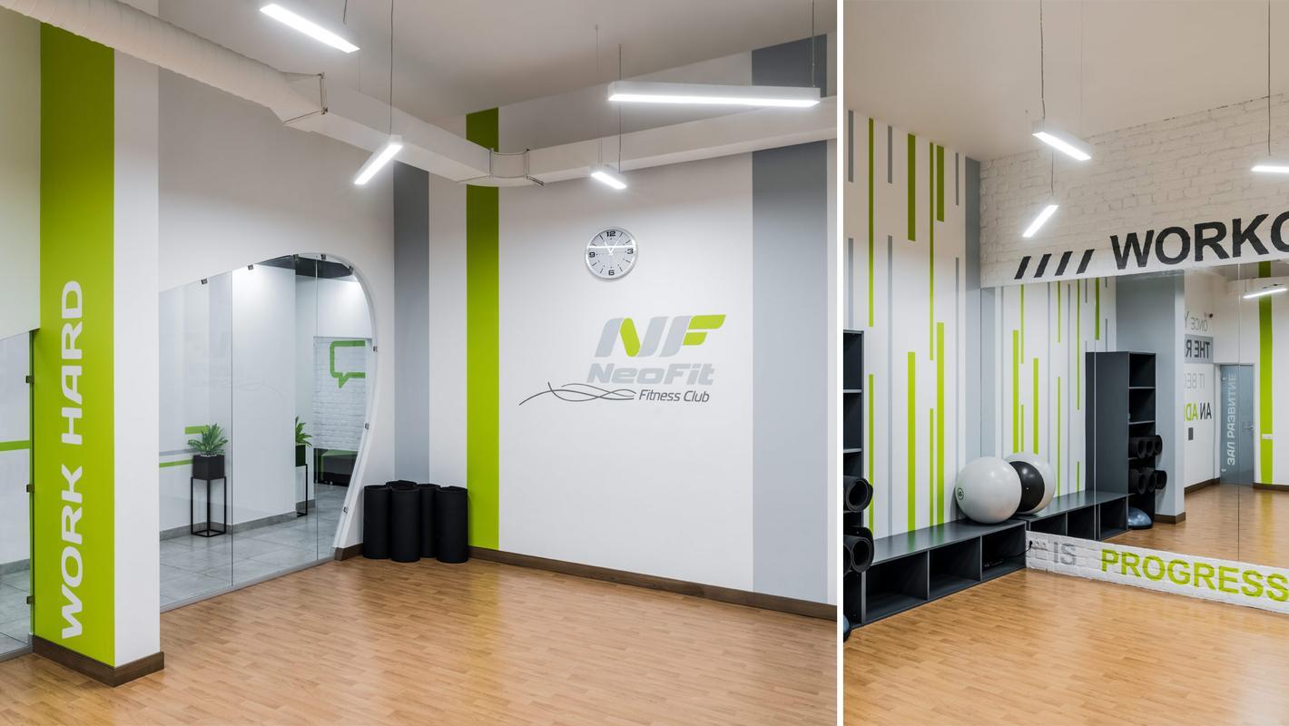 """освещение фитнес-клуба """"NeoFit"""" в г.Одинцово"""