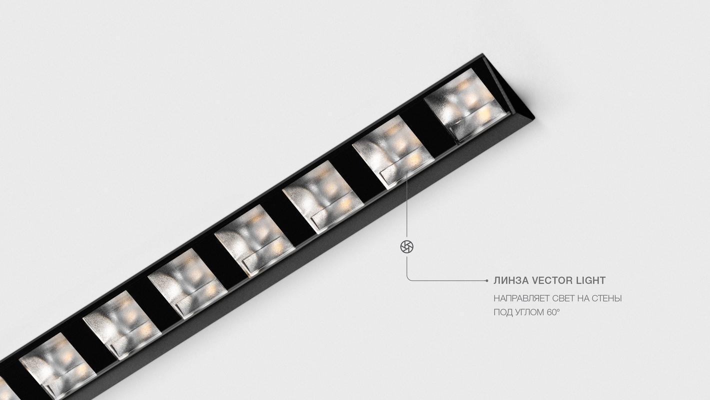 Встраиваемый потолочный севтильник 3M LINE WALL DIM 220V, фото 6