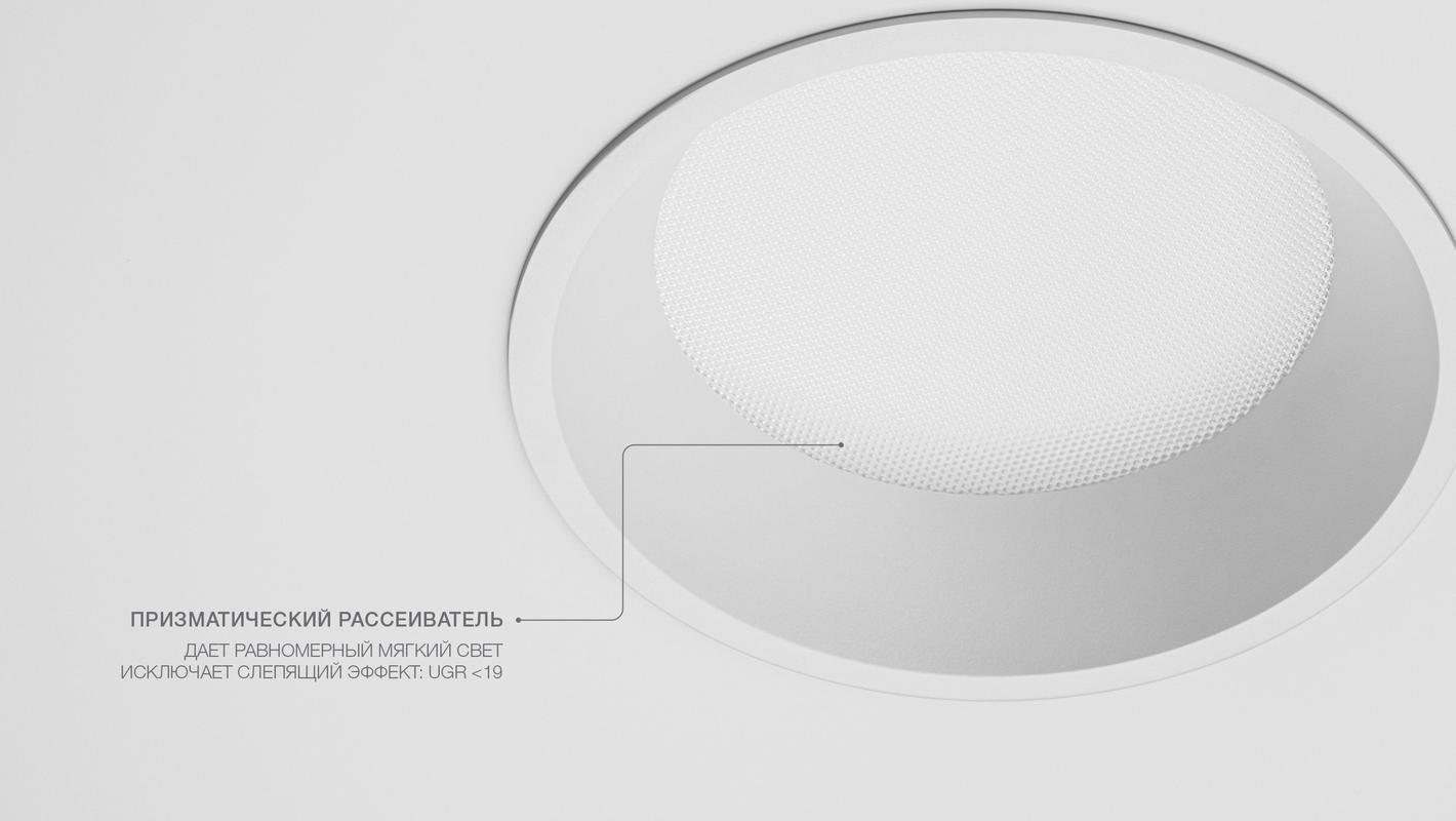 Встраиваемый потолочный светильник AURA R, фото 5