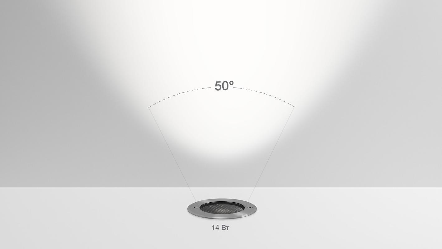 Встраиваемый в пол светильник LIGHT UP14, фото 7
