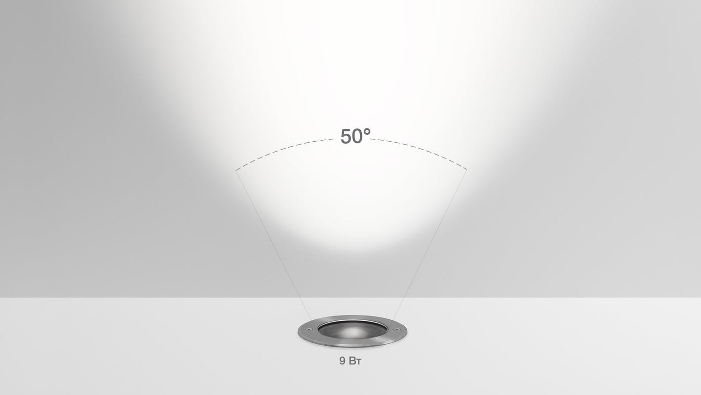 Встраиваемый в пол светильник LIGHT UP9 TURN, фото 6